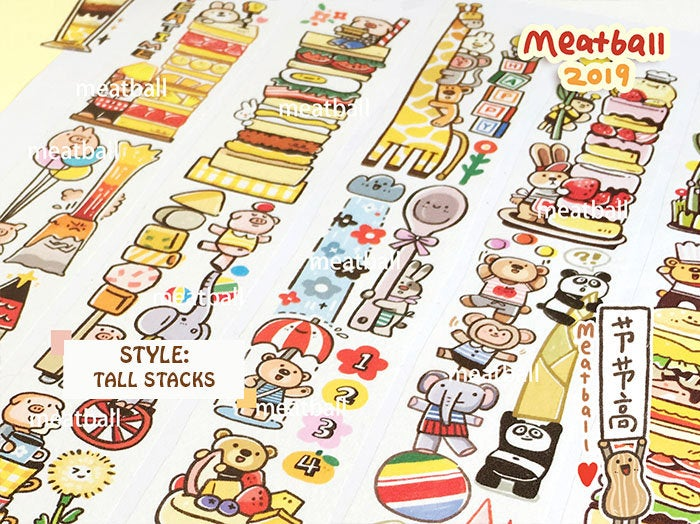 Meatball Washi Tape: Tall Stacks