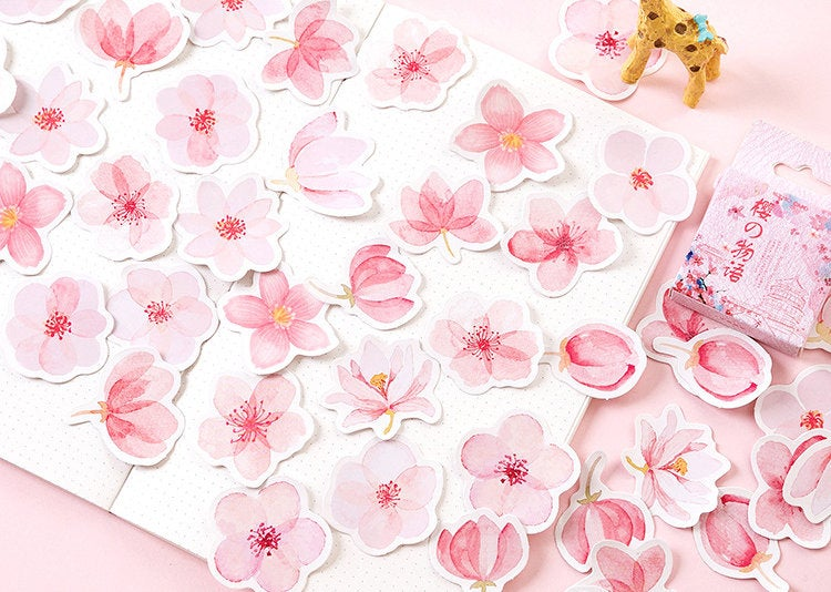 Cherry Blossom Box Stickers Set