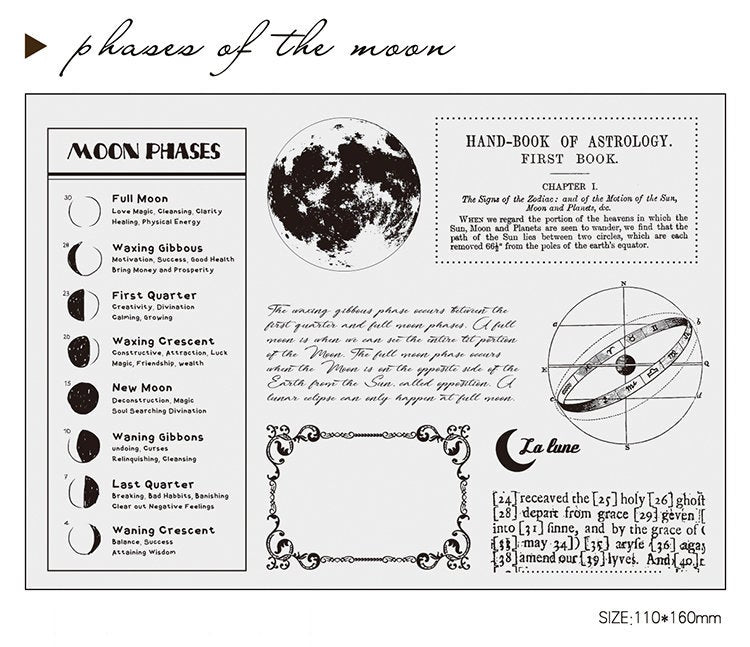 Phases of the Moon Acrylic Stamp Set