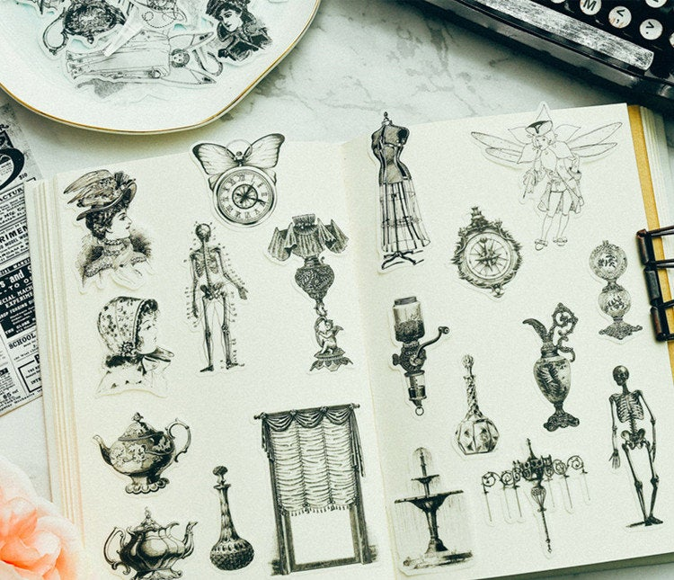 Translucent Vintage Objects Stickers Pack