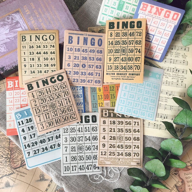 Bingo Cards Stickers Pack