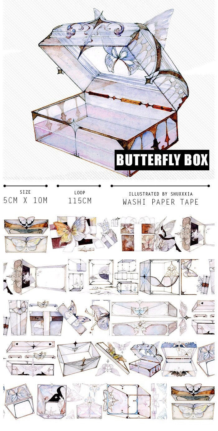 Butterfly Box Washi Tape