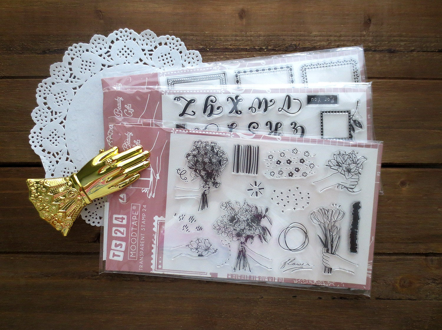 Flower Bouquet Acrylic Stamp Set