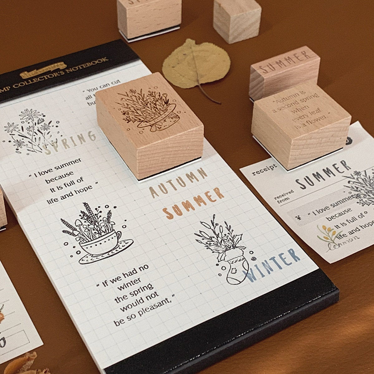 Four Seasons Wooden Stamps Set