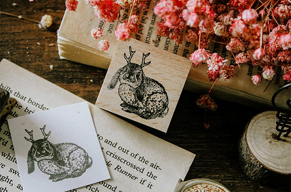 Jackalope Wooden Stamp
