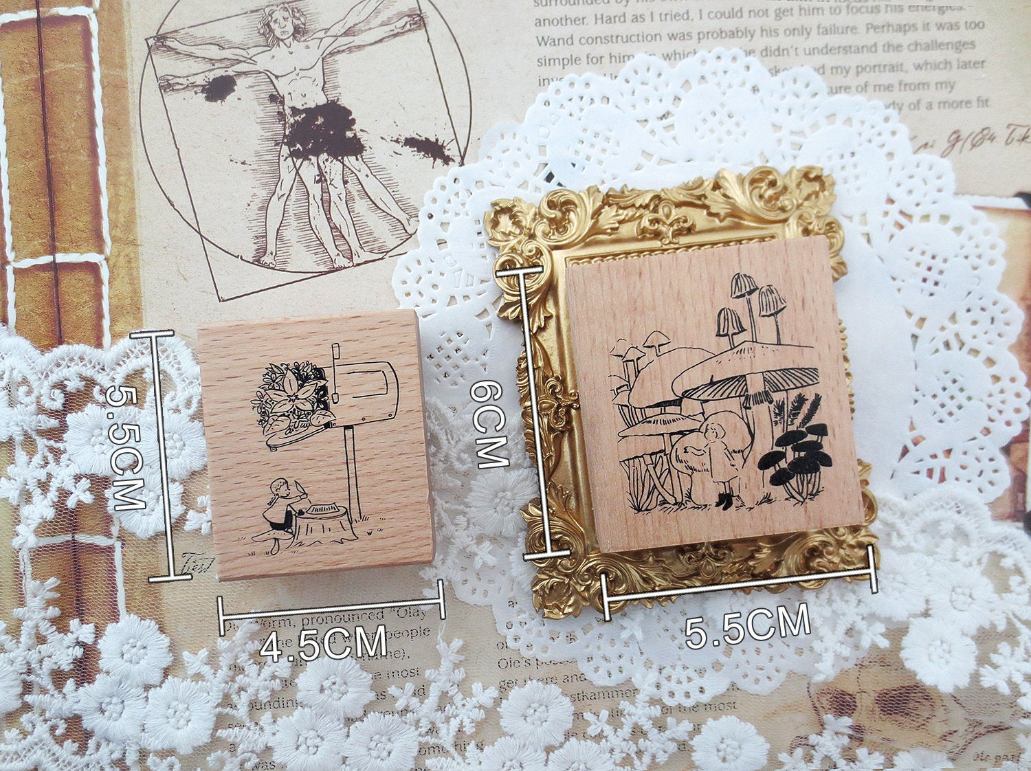 Pixie Fairy Wooden Stamps