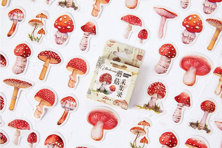 Mushroom Box Sticker Set