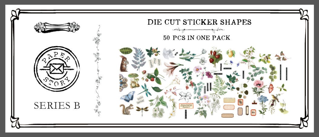 Natural Science Illustration Stickers Pack B