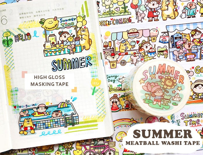 Meatball Washi Tape: Summer