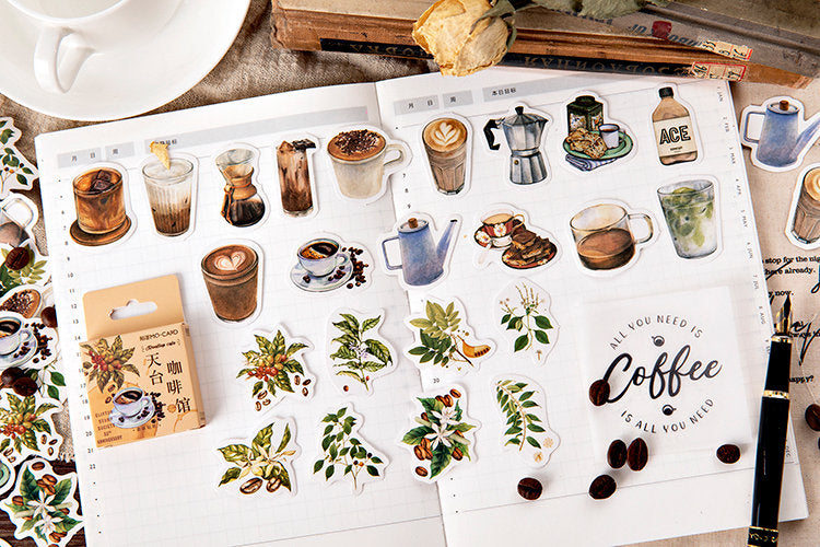 Coffee Box Stickers Set