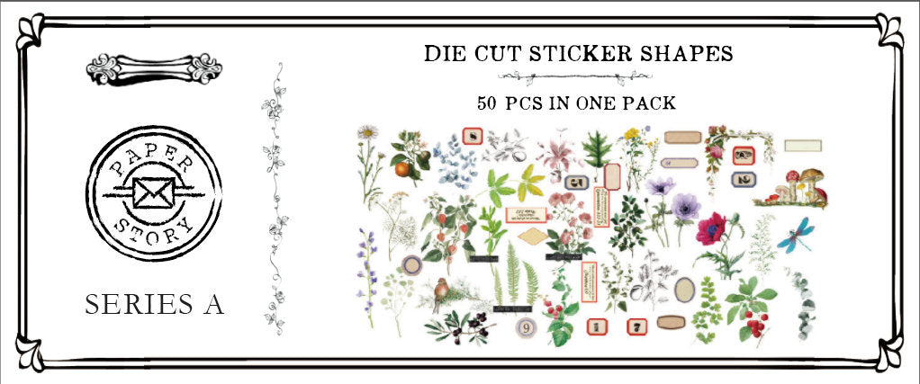 Natural Science Illustration Stickers Pack A