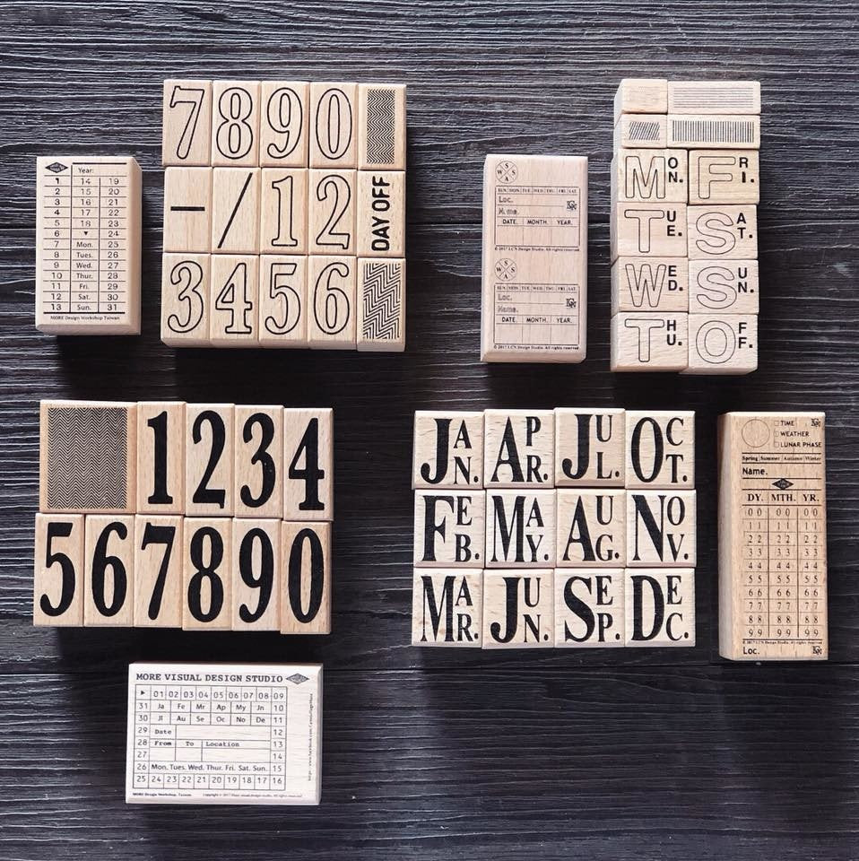 Vintage Tickets Wooden Stamps Set
