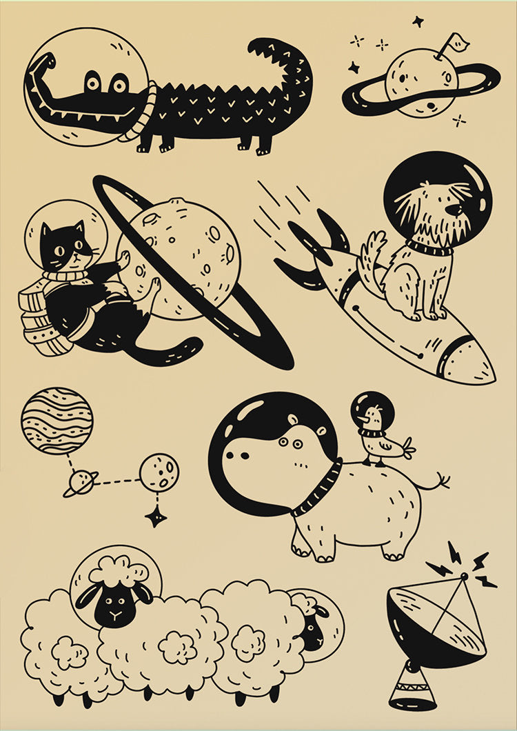 Space Stationery 2 Acrylic Stamp Set