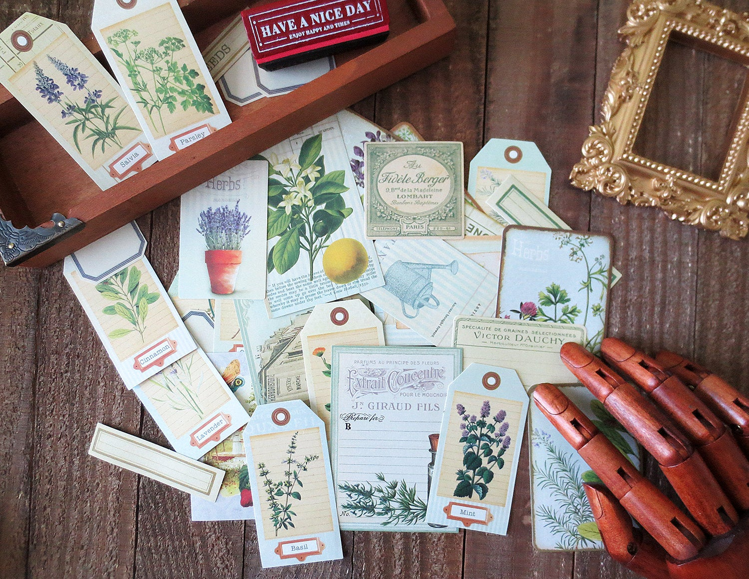 Botanical Tags Stickers Pack