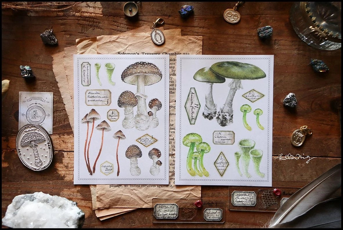 Mushrooms Sticker Sheets Set