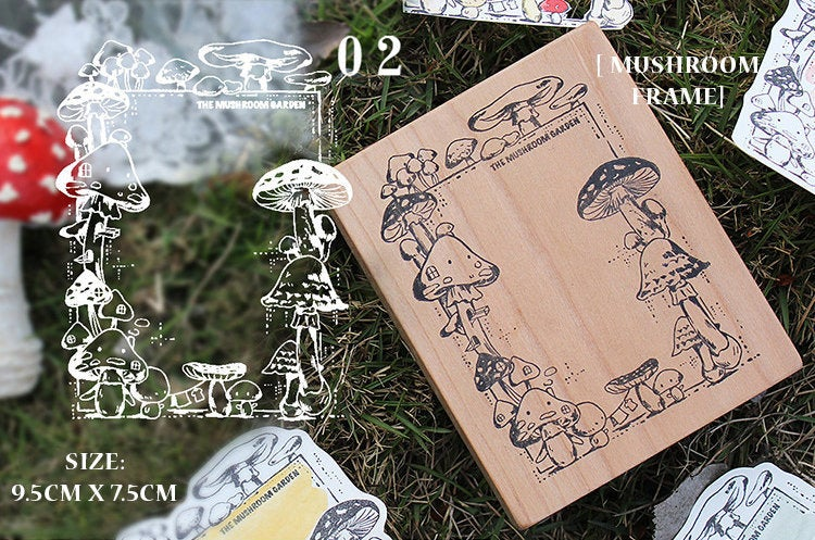 Botany Study Large Wooden Stamps