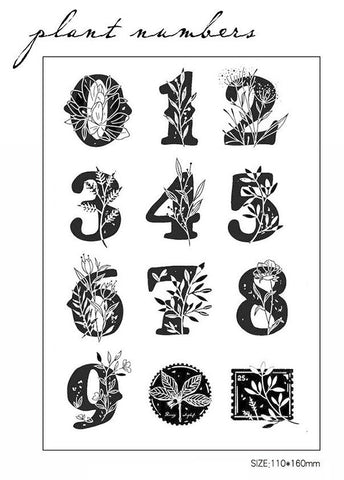 Numbers Acrylic Stamp Set
