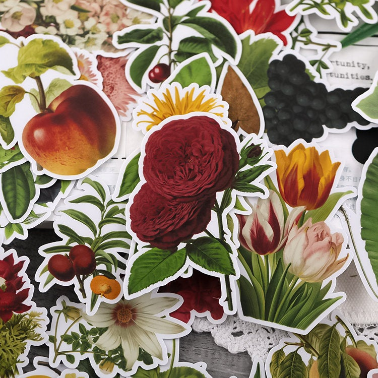 Vinyl Flowers Stickers Pack B
