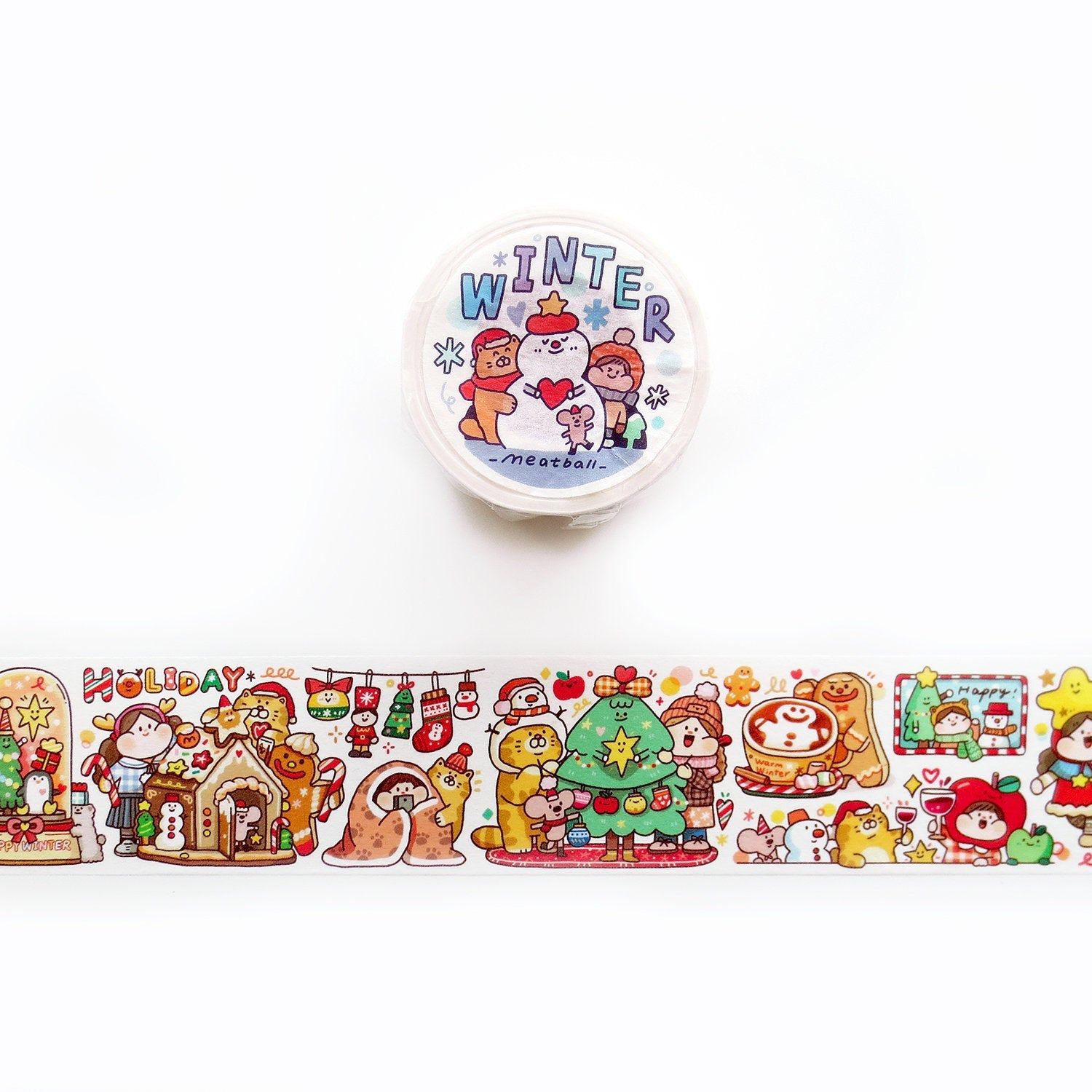 Meatball Washi Tape: Winter