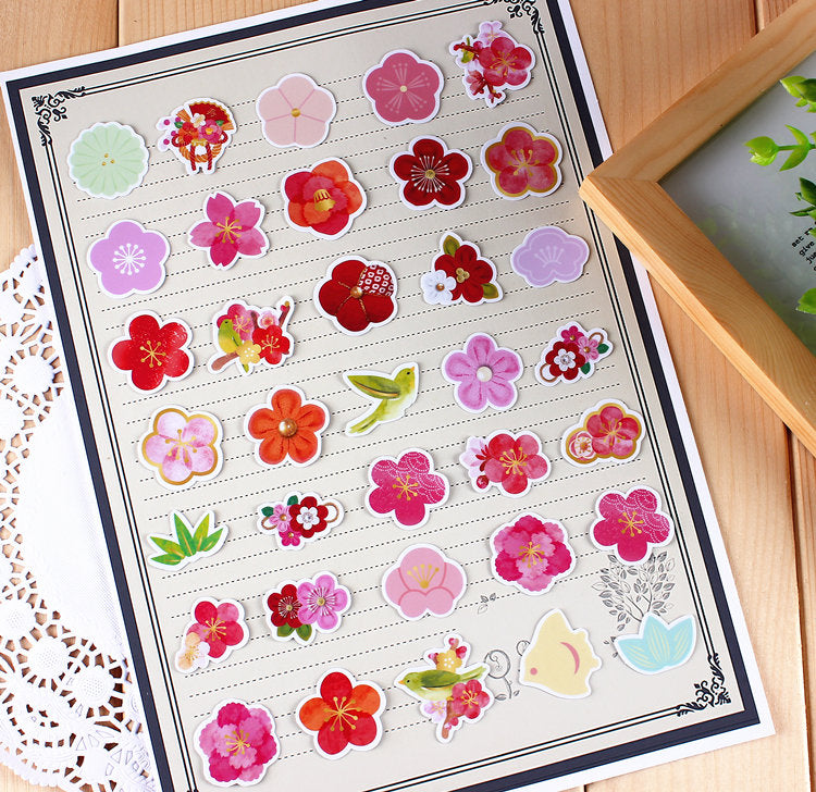 Sakura Cherry Blossoms Stickers Pack