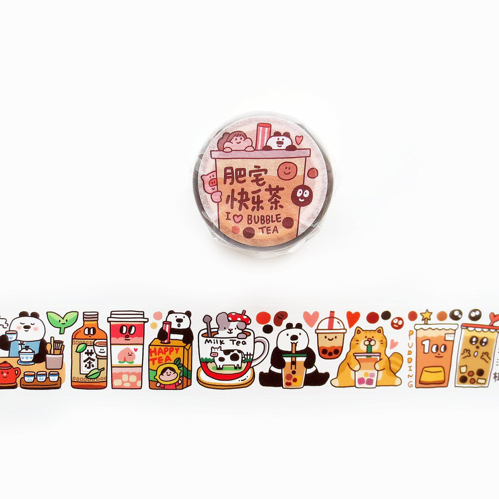 Meatball Washi Tape: I Love Bubble Tea