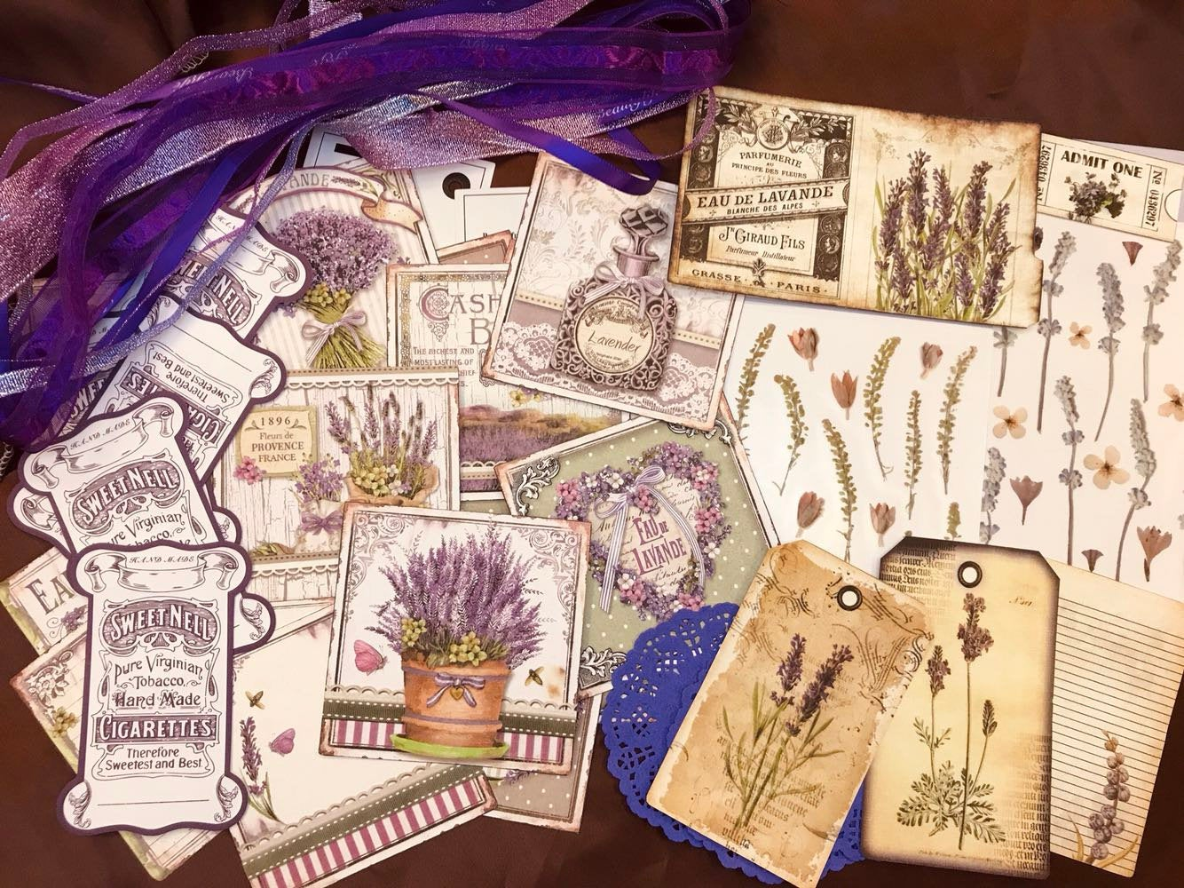 Lavender Letter Junk Journal Ephemera Kit