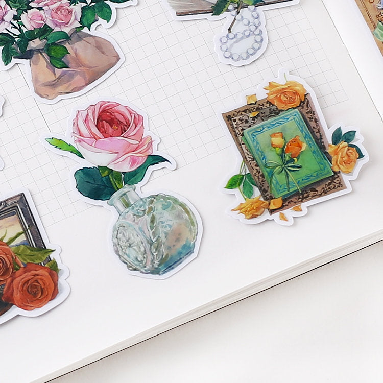 Flowers and Letters Sticker Pack