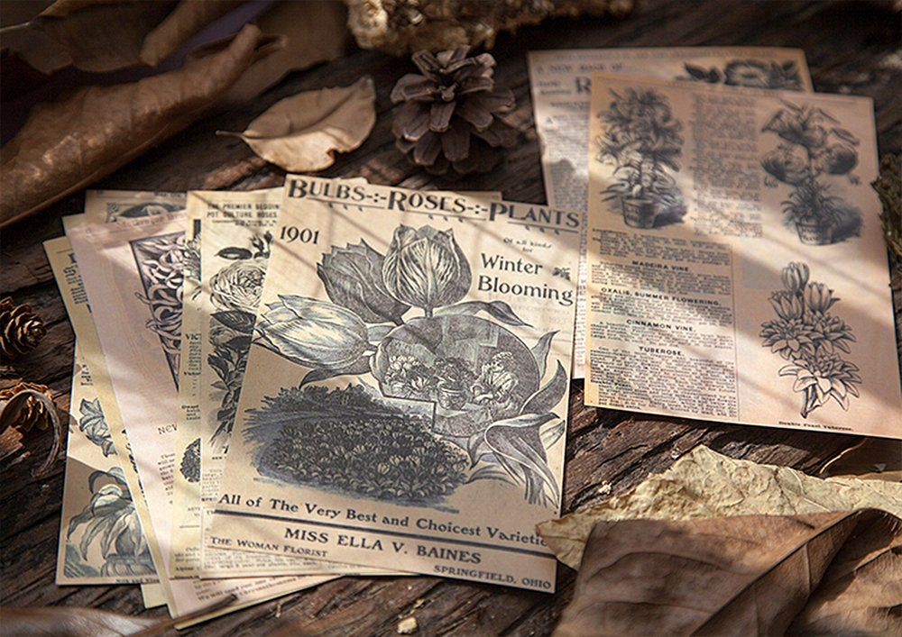 Botanical Decoupage Paper