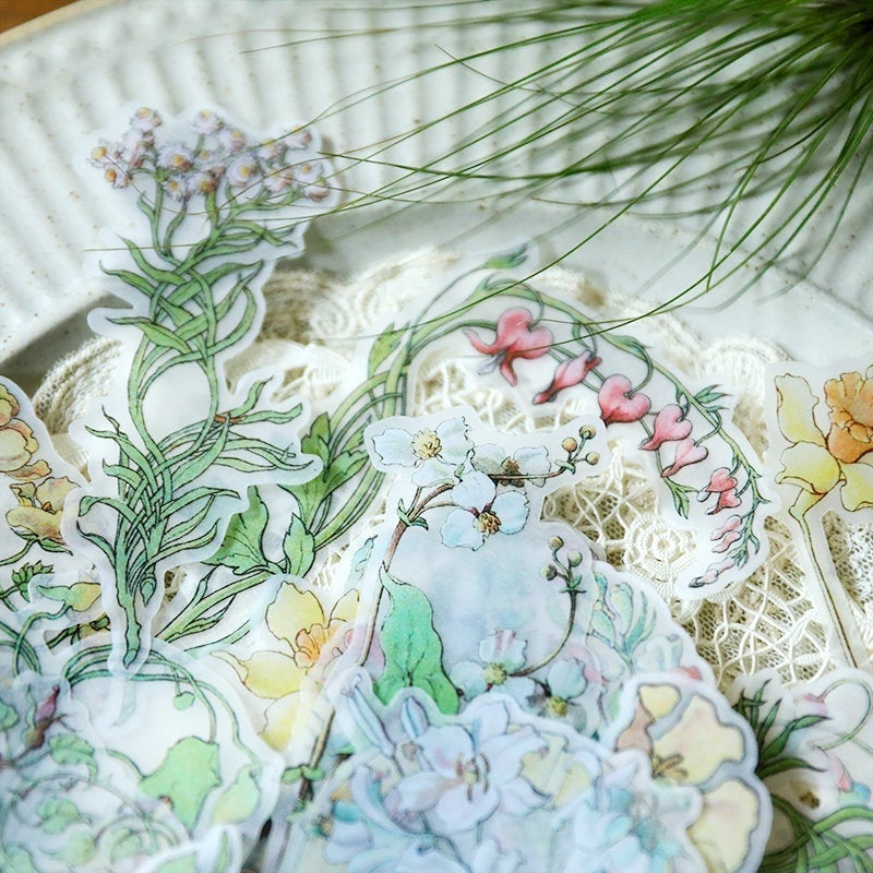 Dream Flowers Clear Stickers