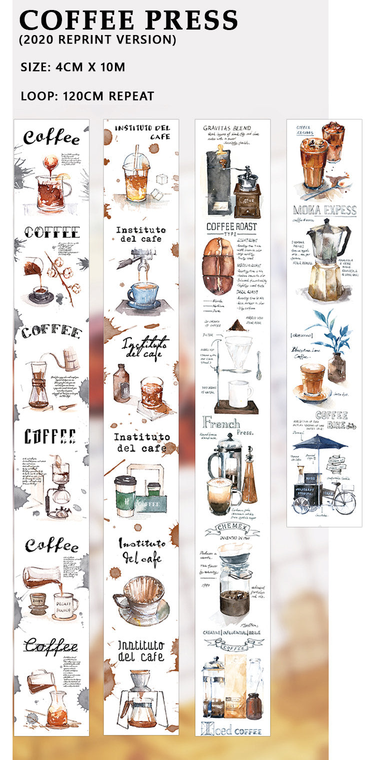 Coffee Press Washi Tape