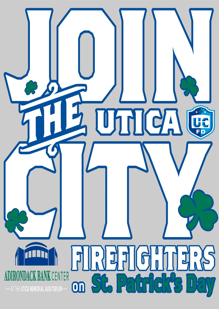 Utica Fire Department St. Patrick's Day T-Shirts
