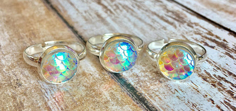 Iridescent Mermaid Rings
