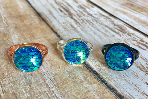 Aqua Mermaid Rings