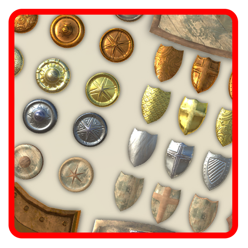 Big Shields Pack (60 Items)