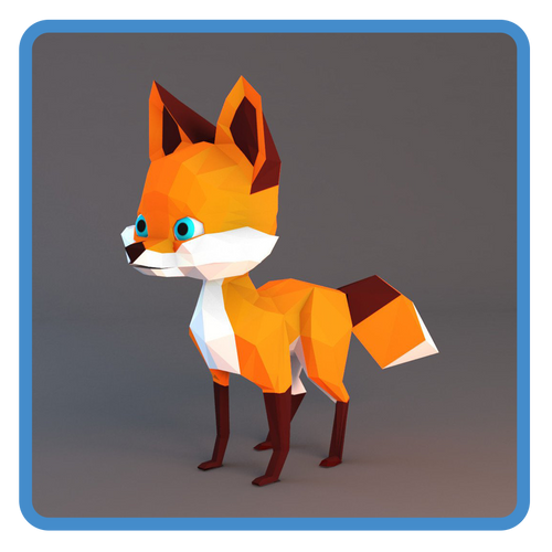 Lowpoly Fox (rigged)