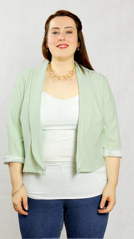 Plus Size Kurzblazer Keep it Minty von CHiC+