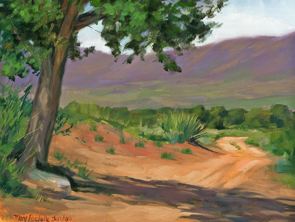 "The Long Shadow, Desert Landscape Art , 9x12"", Oil Painting"