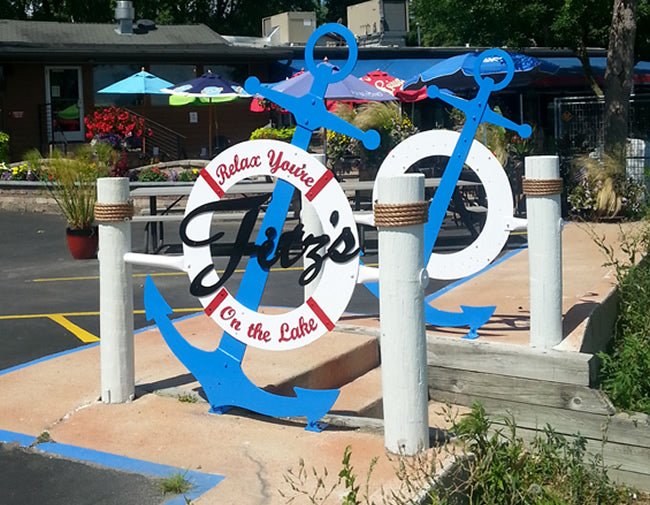 Customized Stairway Made for Fitz's on the Lake