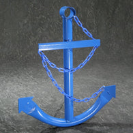 Decorative Nautical Anchor w/Chain - Blue