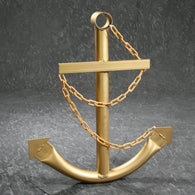 Gold Anchor w/Chain