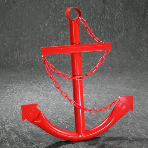 Decorative Nautical Anchor w/Chain - Red