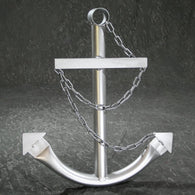 Decorative Nautical Anchor w/Chain - Silver