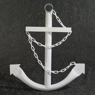 White Anchor w/Chain