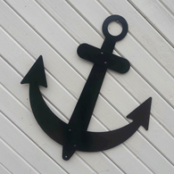 Decorative Sailboat Anchor - Black