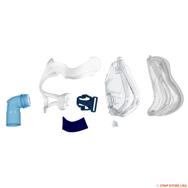 ResMed Quattro™ FX Full Face Mask Frame System-with Cushion Sold By CPAP Store USA www.cpapstoreusa.com