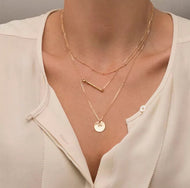 Triple Threat Gold Layered Necklace