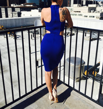 Royal Treatment Choker Bodycon Midi Dress