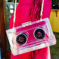 Turn Up The Volume Transparent Box Purse