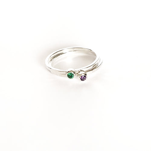 Birthstone Rings - Set of 3