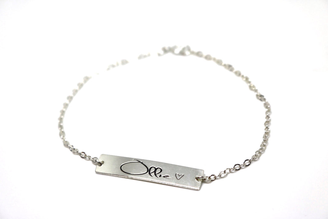 Handwritten Bar Bracelet